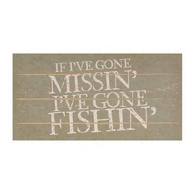 Gone Fishin' Plaque