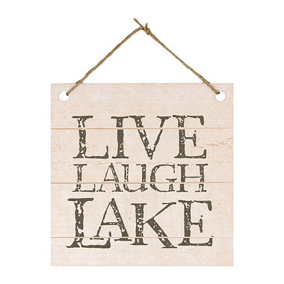 Live, Laugh, Lake Plaque