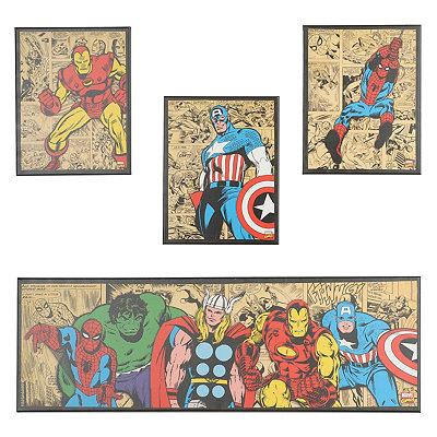 Marvel Superheroes Canvas Art Prints, Set of 4