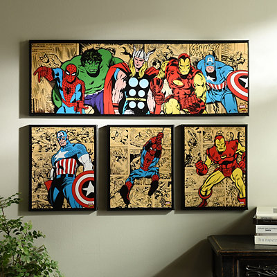 Marvel Superheroes Canvas Art Prints, Set of 4