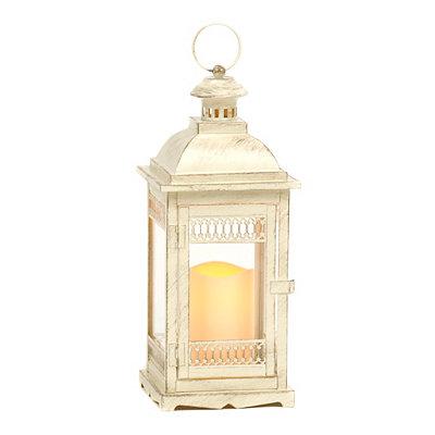 Antique Cream LED Lantern