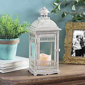 Antique Cream LED Lantern
