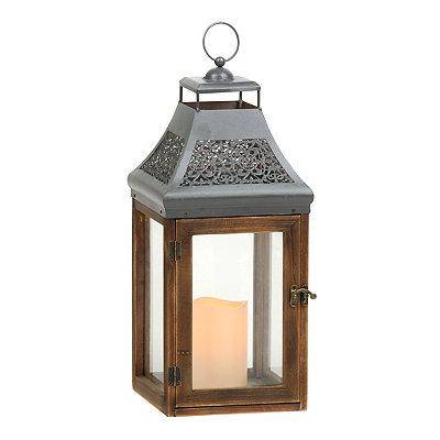 Natural Brown LED Lantern