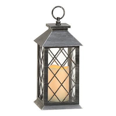 Brushed Black LED Lantern