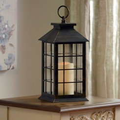 Brushed Bronze LED Lantern