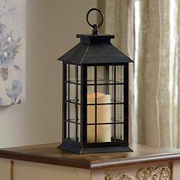 Brushed Bronze LED Lantern