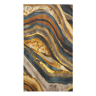 Cool Strata Canvas Art Print