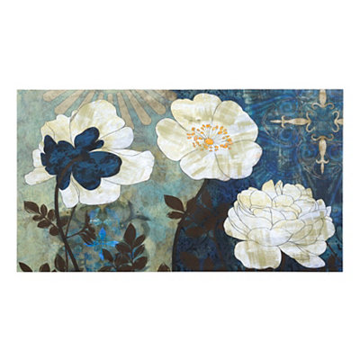 Bountiful Blue Garden Canvas Art Print