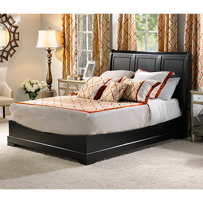 Victoria Black Queen Bed