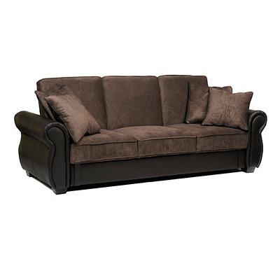 Jordan Cocoa Convertible Storage Sofa