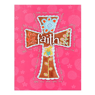 Pink Faith Plaque