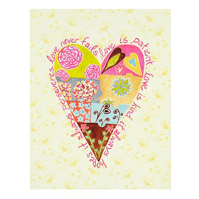 Patchwork Heart Plaque