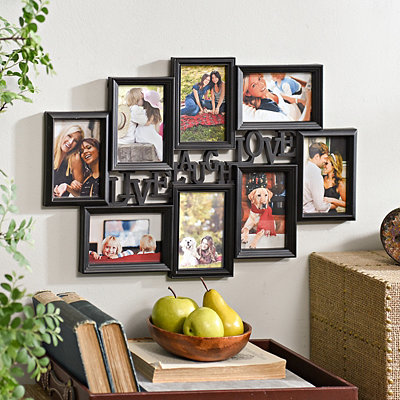 Live, Laugh, Love Black Collage Frame