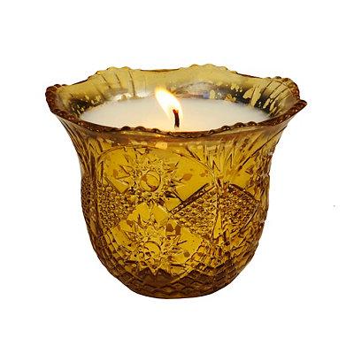 Bay Leaf & Myrrh Gold Mercury Star Candle