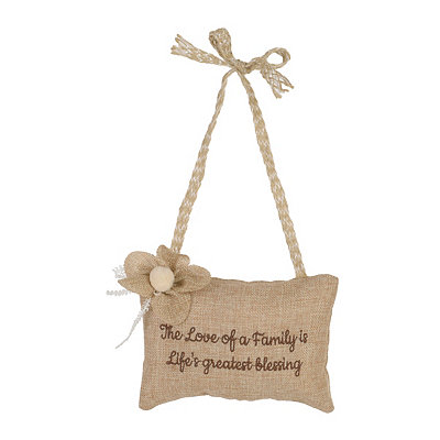 Love of Family Burlap Pillow Door Hanger