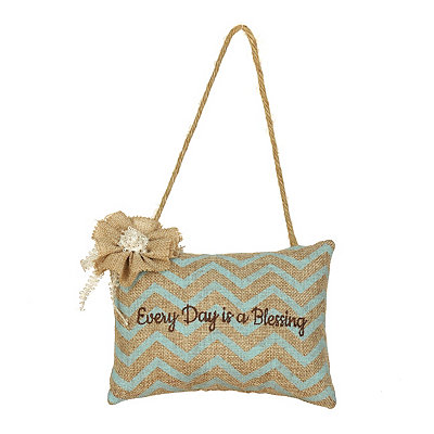Every Day is a Blessing Burlap Pillow Door Hanger