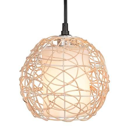Natural Triple Wicker Floor Lamp Kirklands