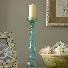 Santorini Turquoise Candlestick