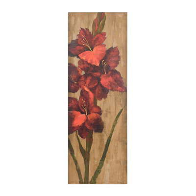 Vivid Red Floral II Canvas Art Print