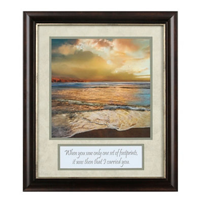 Beach Footprints Framed Art Print