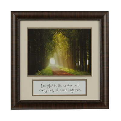 Put God in the Center Framed Art Print
