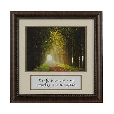 Put God in the Center Framed Art Print
