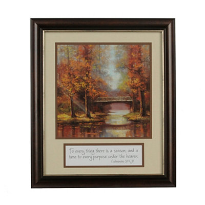 There Is a Season Framed Art Print