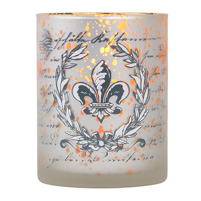 Gold Fleur-de-lis Votive Candle Holder