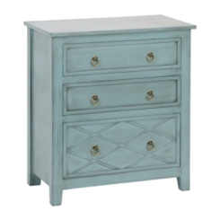 Antique Teal 3-Drawer Chest