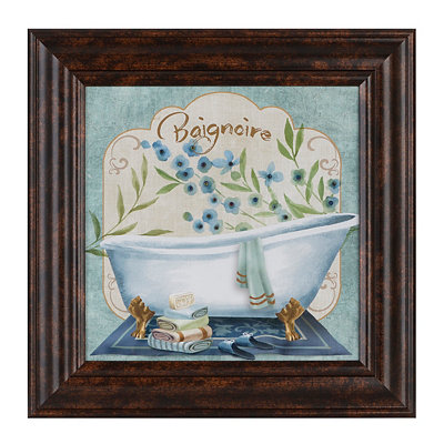 Blue Poppy Baignoire Framed Art Print