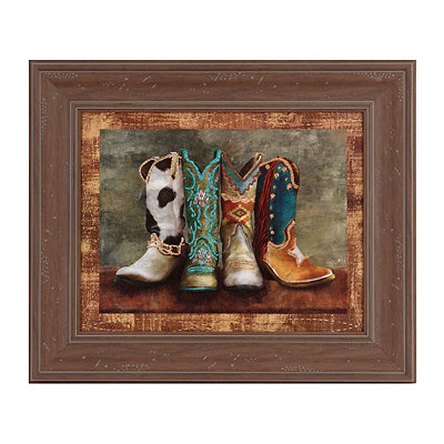 Cowboy Boots I Framed Art Print