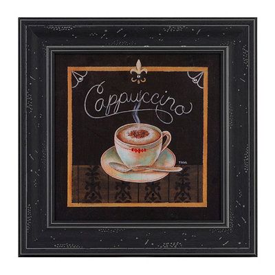 Cappuccino Jeweled Framed Art Print