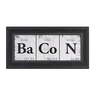 The Science of Bacon Framed Art Print
