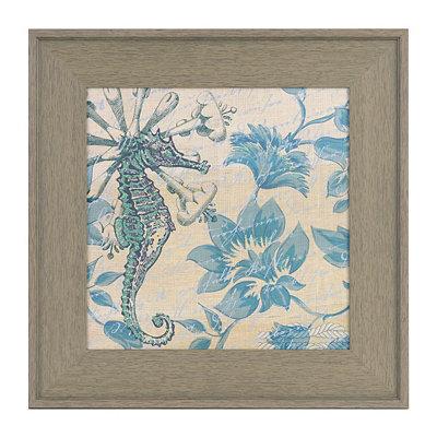Blue Seahorse I Framed Art Print