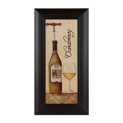 Glittered Chardonnay Framed Art Print