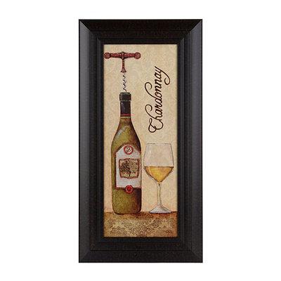 Glittered Chardonnay Framed Art Print