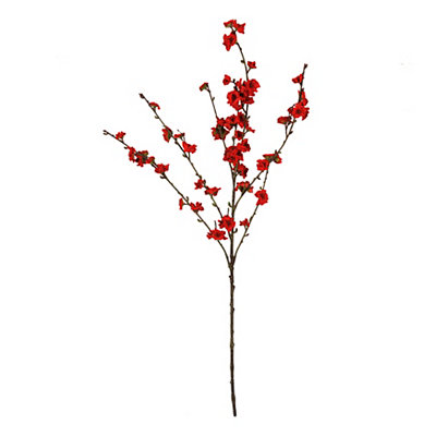 Red Velvet Plum Blossom Stem