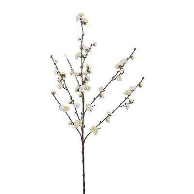 White Velvet Plum Blossom Stem