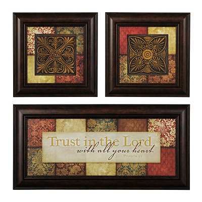 Trust in the Lord Shadowboxes, Set of 3