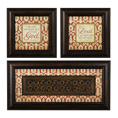 Be Still Spice Ikat Shadowboxes, Set of 3