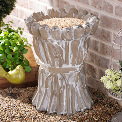 Concrete Tulip Bird Feeder