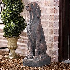 Concrete Dog Statue