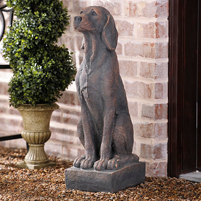 Concrete Dog Statue