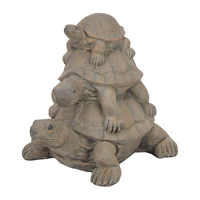 Triple Stacked Turtles Statue