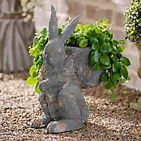 Vintage Bunny and Basket Statue