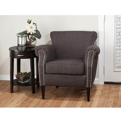 Emma Charcoal Arm Chair