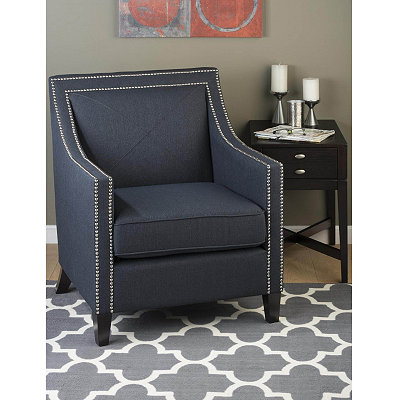 Luca Indigo Arm Chair