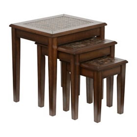 Mosaic Tile Nested Accent Tables, Set of 3