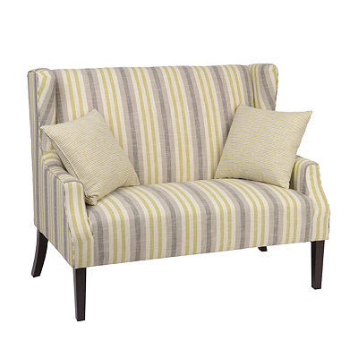 Bella Aloe Loveseat with Throw Pillows