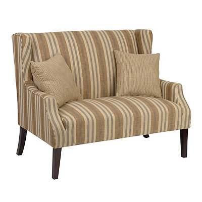 Bella Sable Loveseat with Throw Pillows